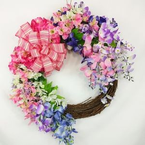 Spring Floral Welcome Wreath